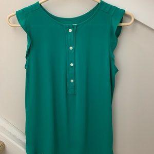 Loft Green Sleeveless Blouse